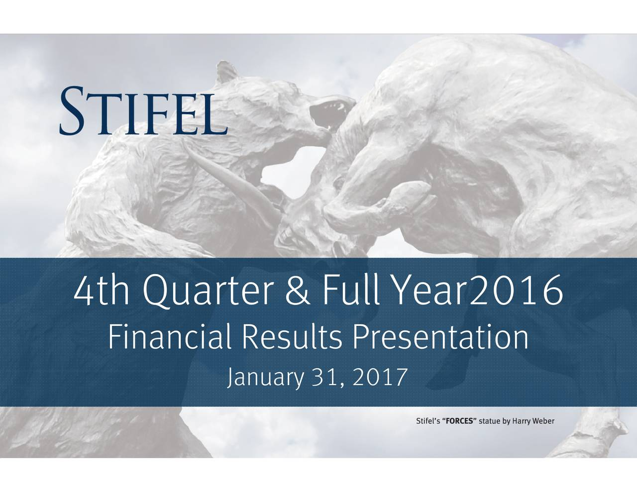 Financial Results Presentation 4th Quarter & Full Year2016