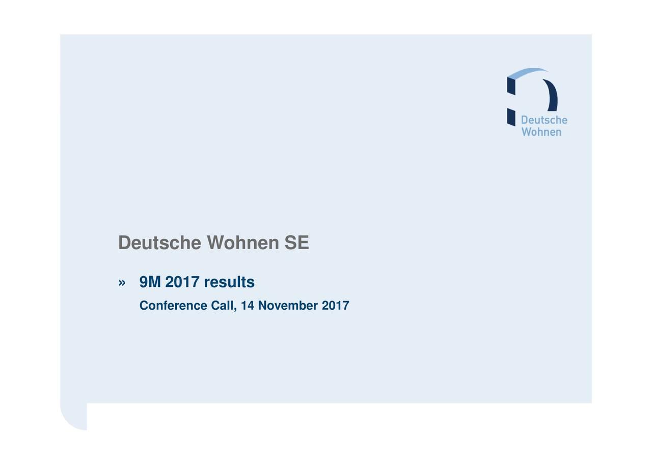 Deutsche Wohnen Com deutsche wohnen se adr 2017 q3 results earnings call slides
