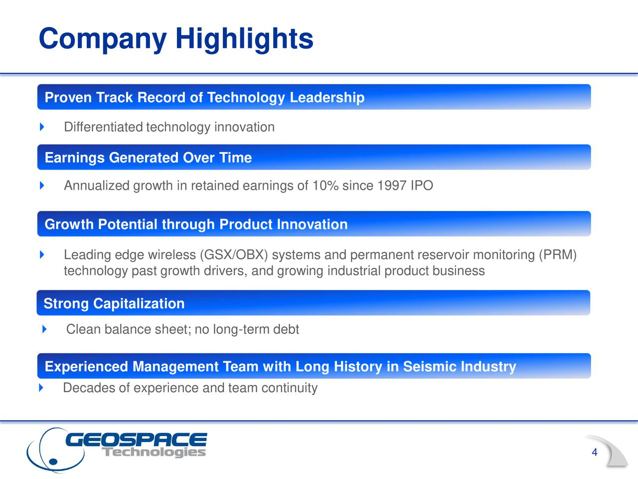 Geospace Technologies Corporation 2018 Q3 - Results ...