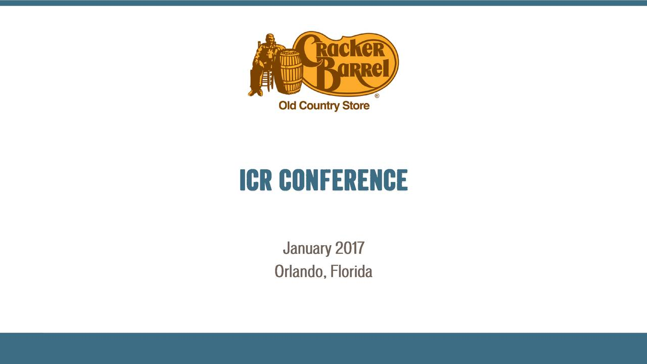 Cracker Barrel Old Country Store (CBRL) presents at 2017 ICR ...