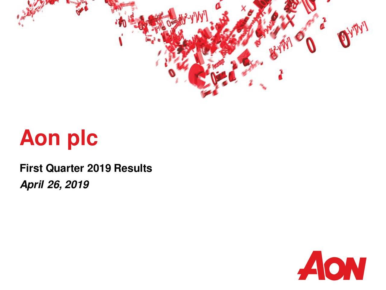 First Quarter 2019 Results April 26, 2019