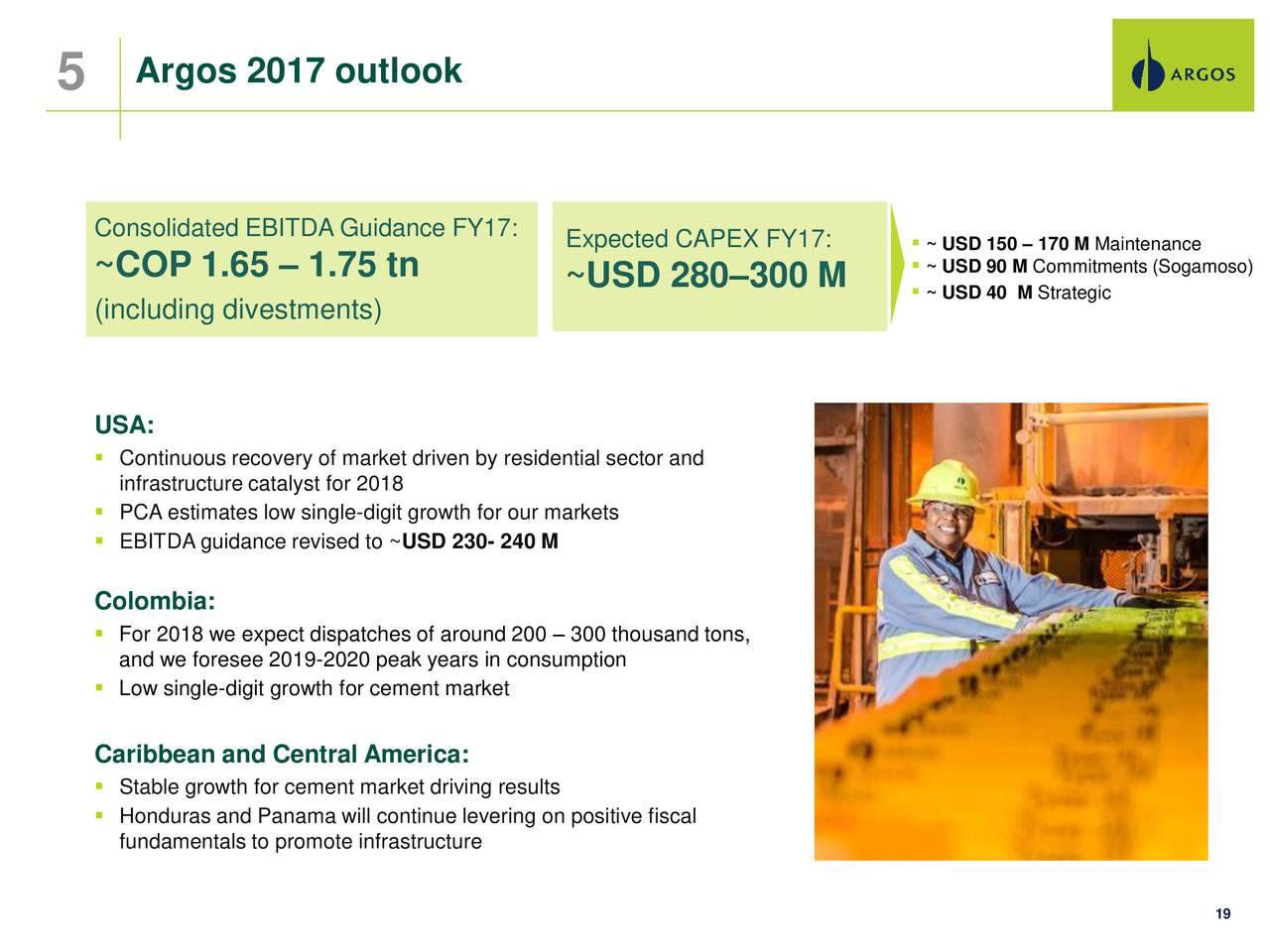 Cementos Argos SA ADR 2017 Q3
