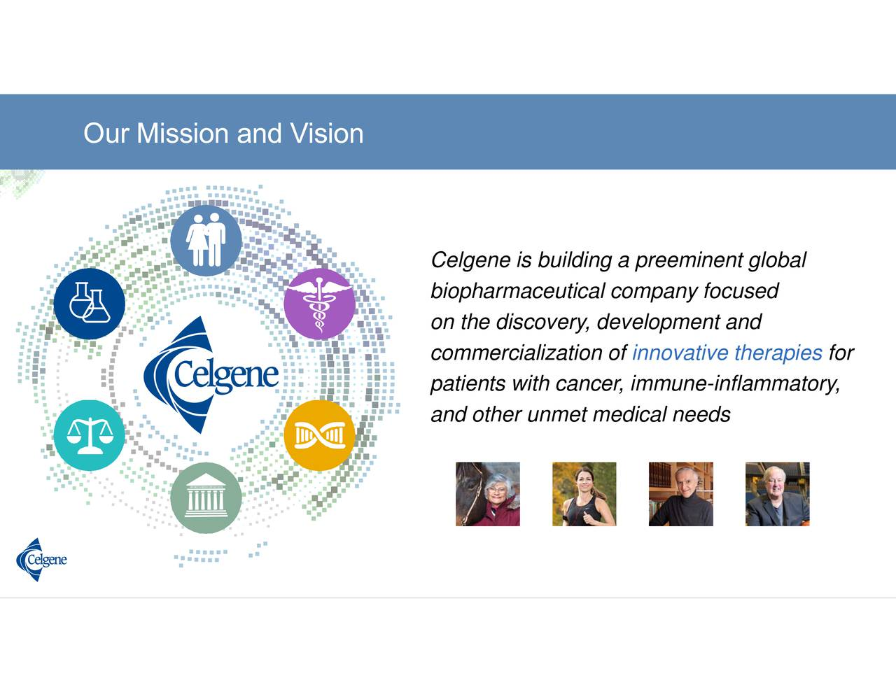 innovative therapies Celgoneniheaceiritap,eeonioyntelobcldl-nfammatory, OuurrMiissionn andd Visionn