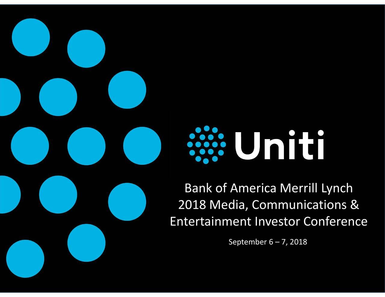 Uniti Group (UNIT) Presents At Bank Of America Merrill Lynch
