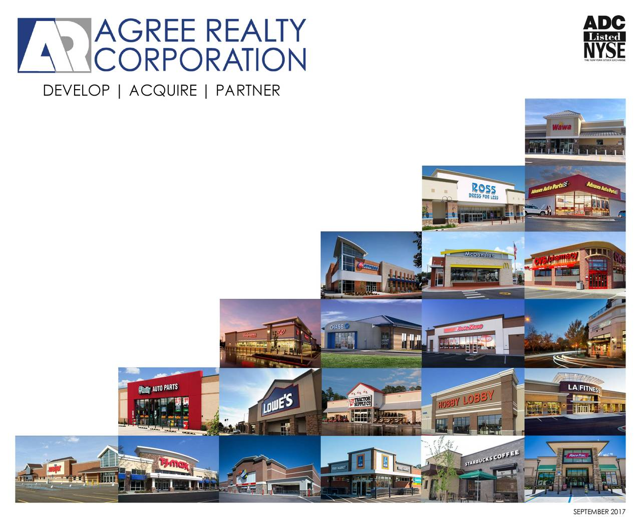 Agree realty corporation adc presents at wells fargo 6th annual agree realty corporation adc presents at wells fargo 6th annual net lease reit forum slideshow platinumwayz