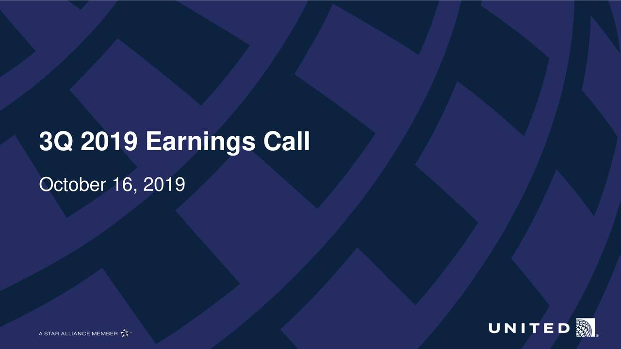 United Airlines Holdings, Inc. 2019 Q3 - Results - Earnings Call Presentation