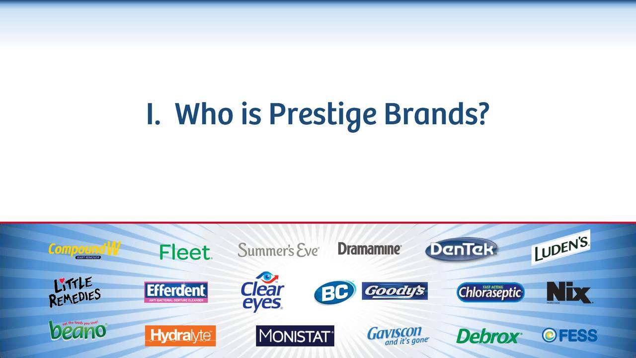Prestige Brands Holdings (PBH) Presents At 2017 Morgan