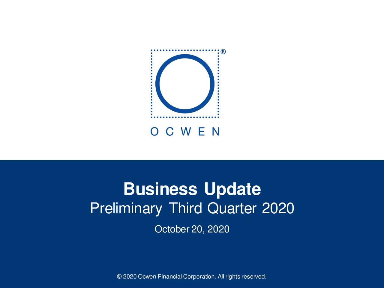 Ocwen Financial Corporation 2020 Q3 - Results - Earnings Call Presentation (NYSE:OCN)