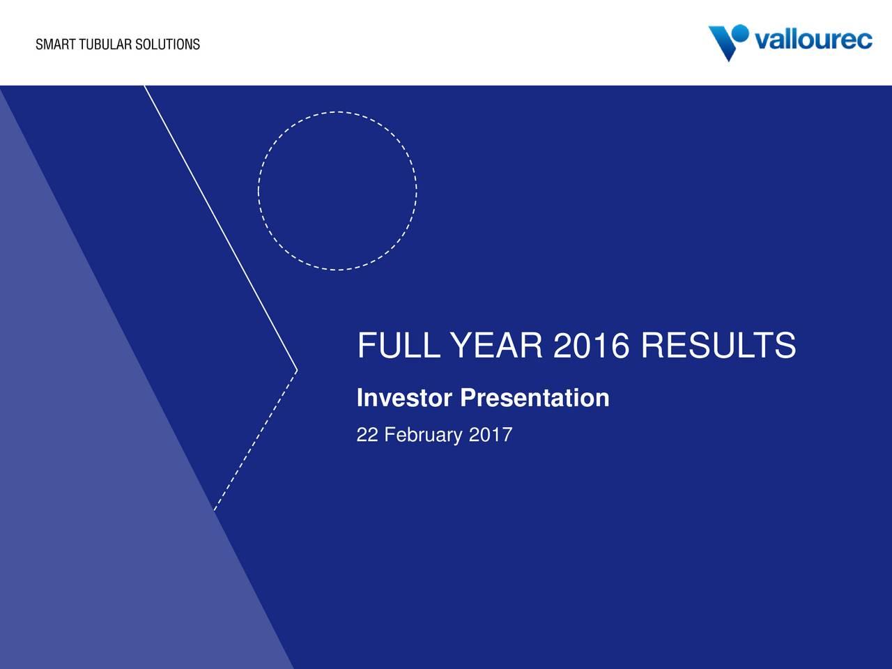 Investor Presentation 22 February 2017