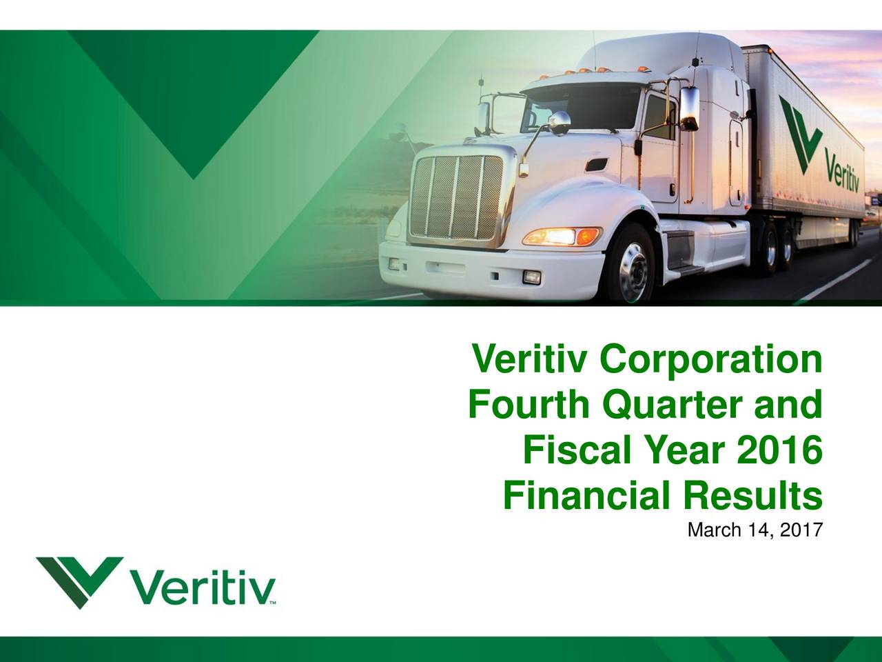 Fourth Quarter and Fiscal Year 2016 Financial Results March 14, 2017