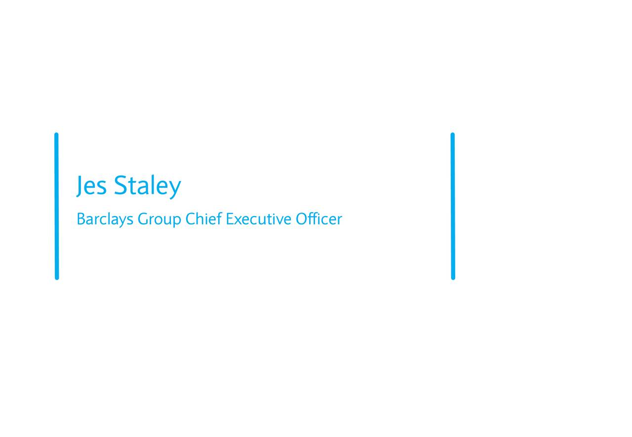 Barclays Group Chief Executive Officer