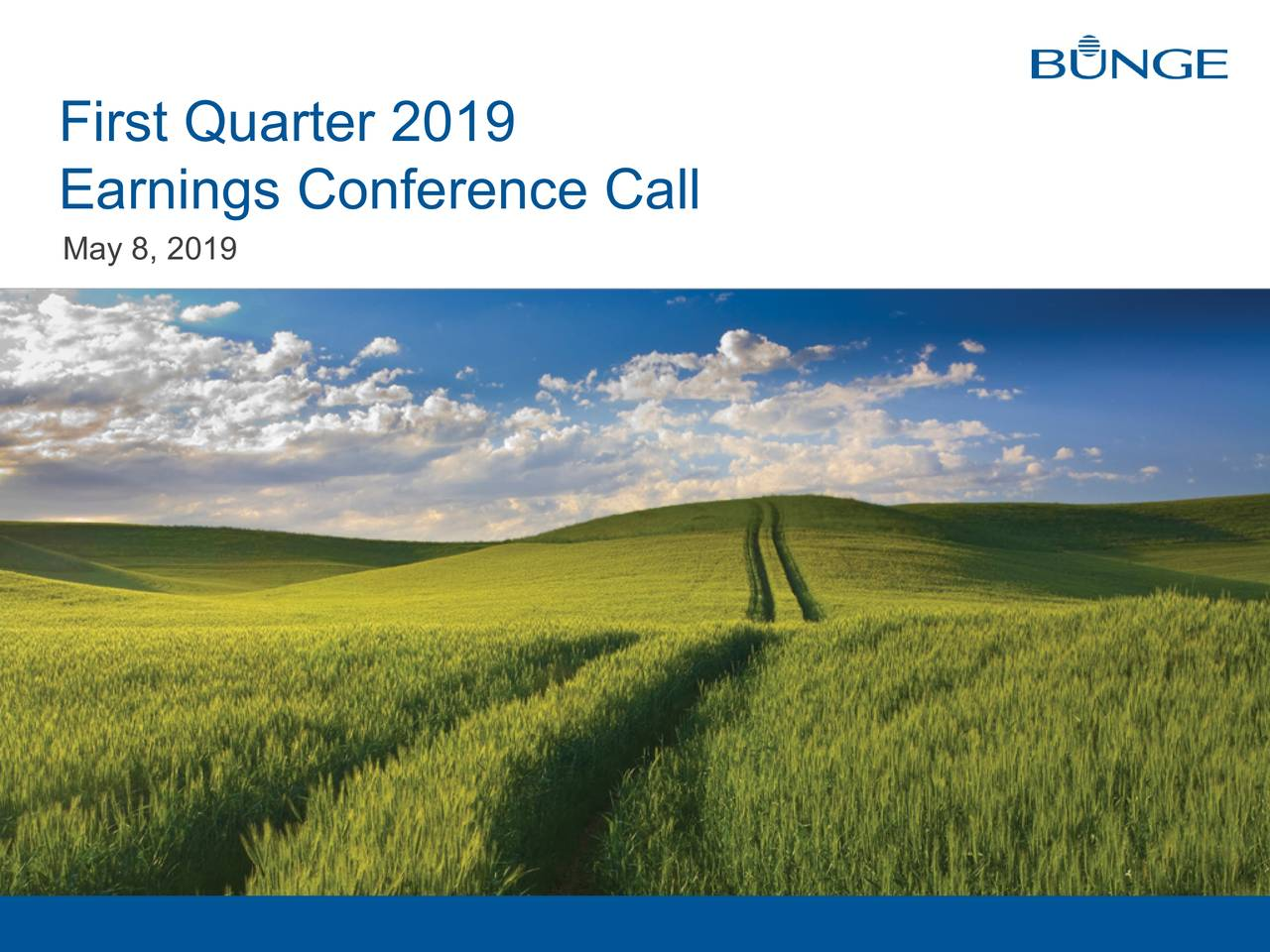 Earnings Conference Call May 8, 2019 1 third Quarter 2017 earnings conference call