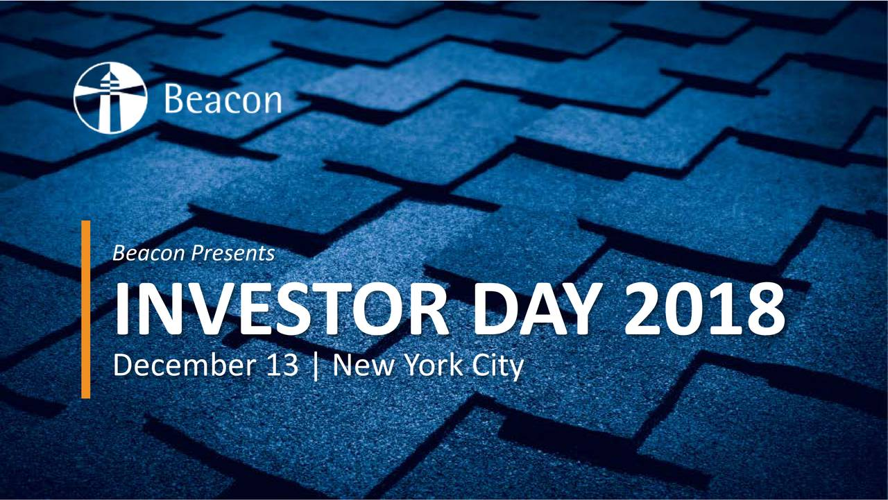 INVESTOR DA Y 2018 December 13 | New York City