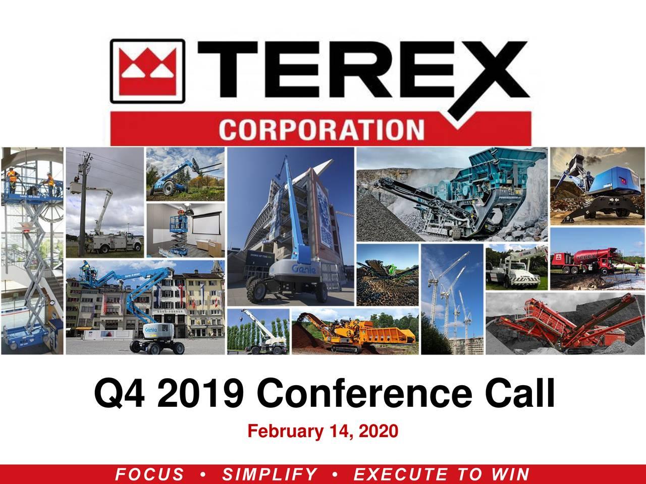 Terex Corporation 2019 Q4 - Results - Earnings Call Presentation - Terex Corporation (NYSE:TEX) | Seeking Alpha