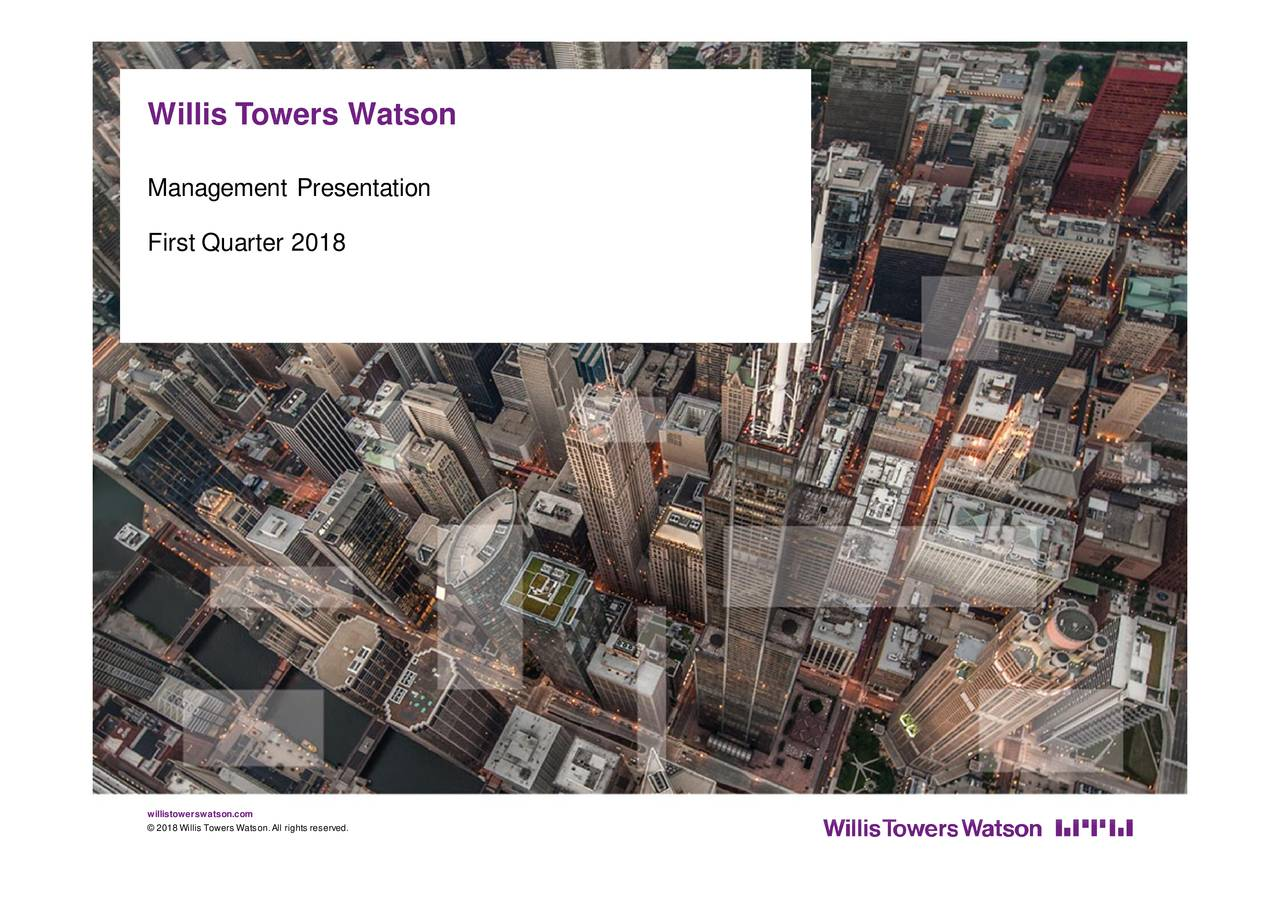 Willis Towers Watson Public Limited 2018 Q1   Results   Earnings