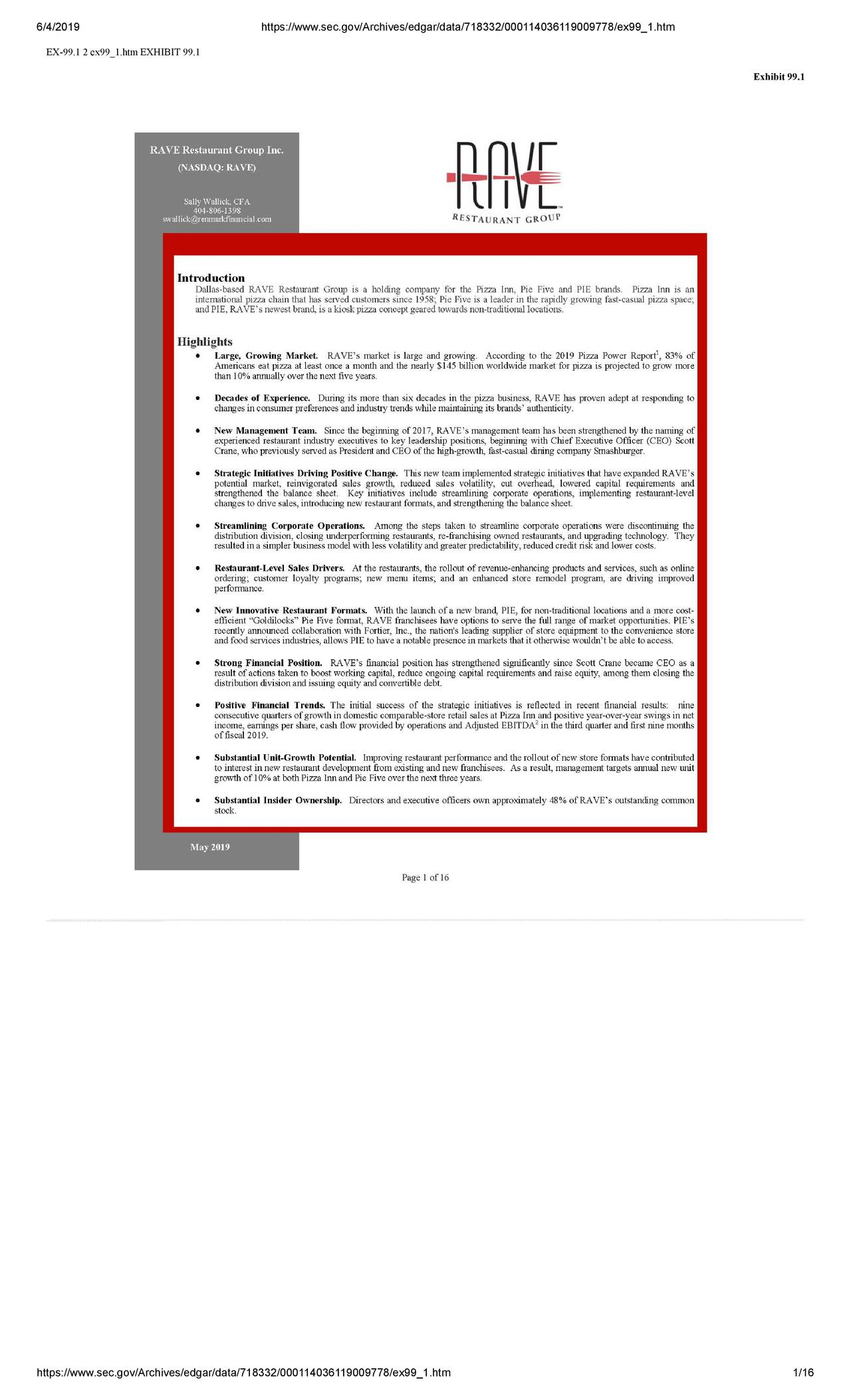 RAVE Stock Financials - (754198109) - Stock Analysis