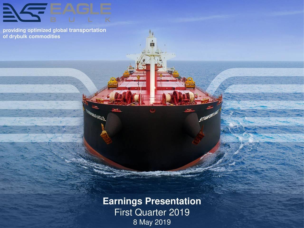 of drybulk commodities Earnings Presentation First Quarter 2019