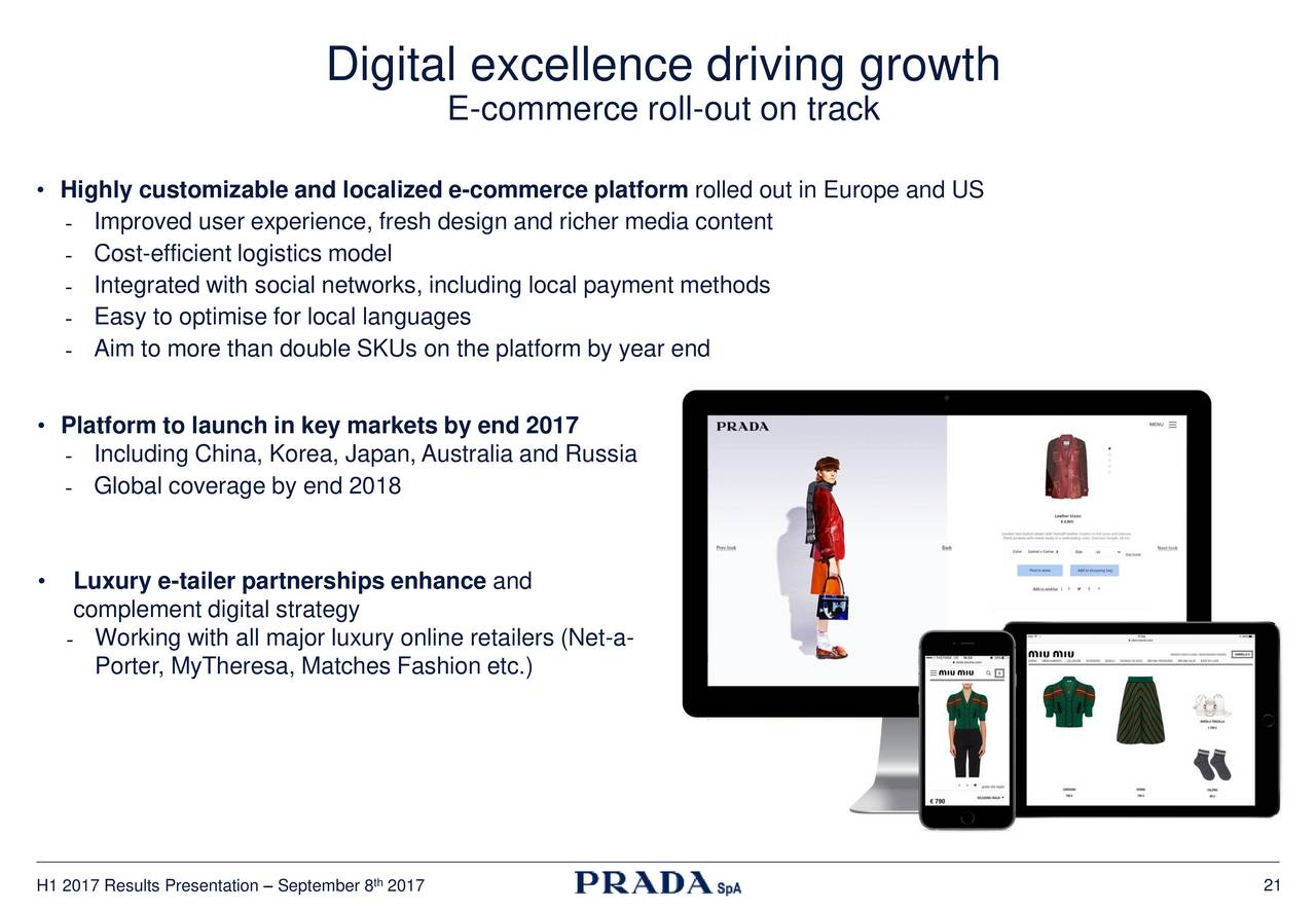 392791821b8f Prada Spa ADR 2017 Q2 - Results - Earnings Call Slides - Prada S.p.A.  (OTCMKTS:PRDSY)   Seeking Alpha