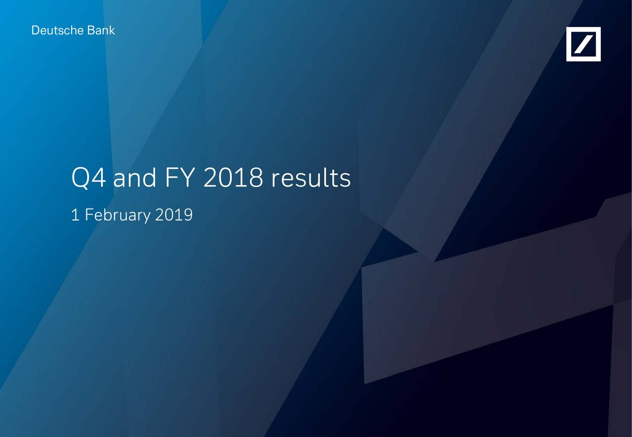 Q4 and FY 2018 results 1 February 2019