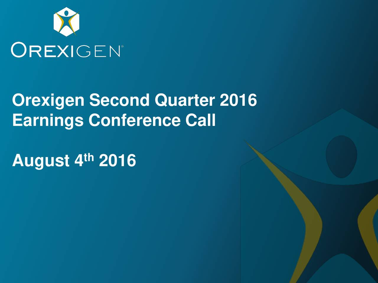 Earnings Conference Call August 4 2016 For investor purposes only