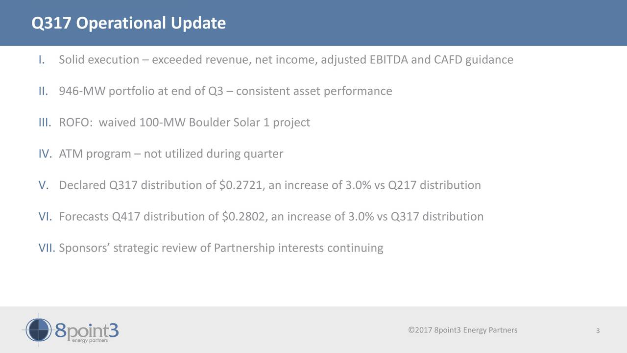 8point3 Energy Partners Lp 2017 Q3 Results Earnings
