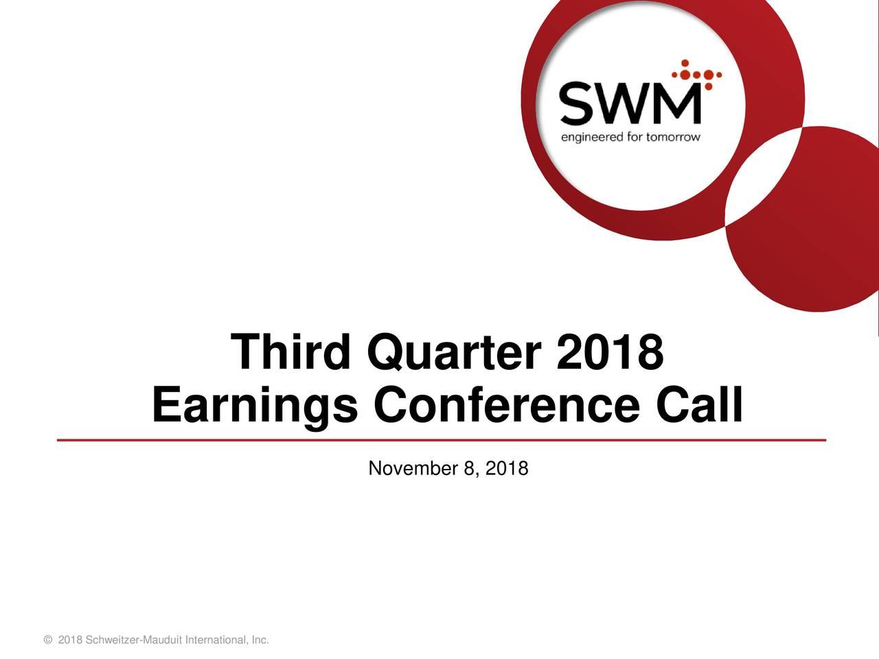 Earnings Conference Call November 8, 2018