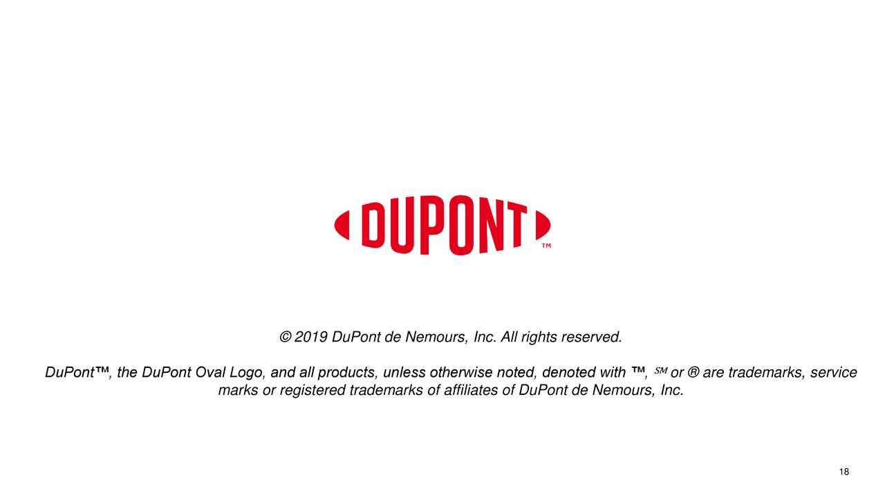 DuPont de Nemours, Inc  2019 Q3 - Results - Earnings Call