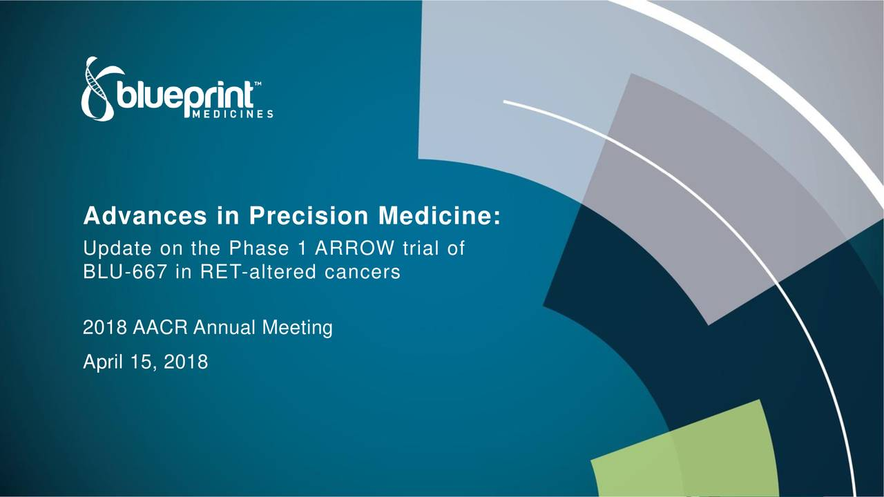 Blueprint medicines bpmc advances in precision medicine update on the phase 1 arrow trial of blu 667 in ret altered cancers malvernweather