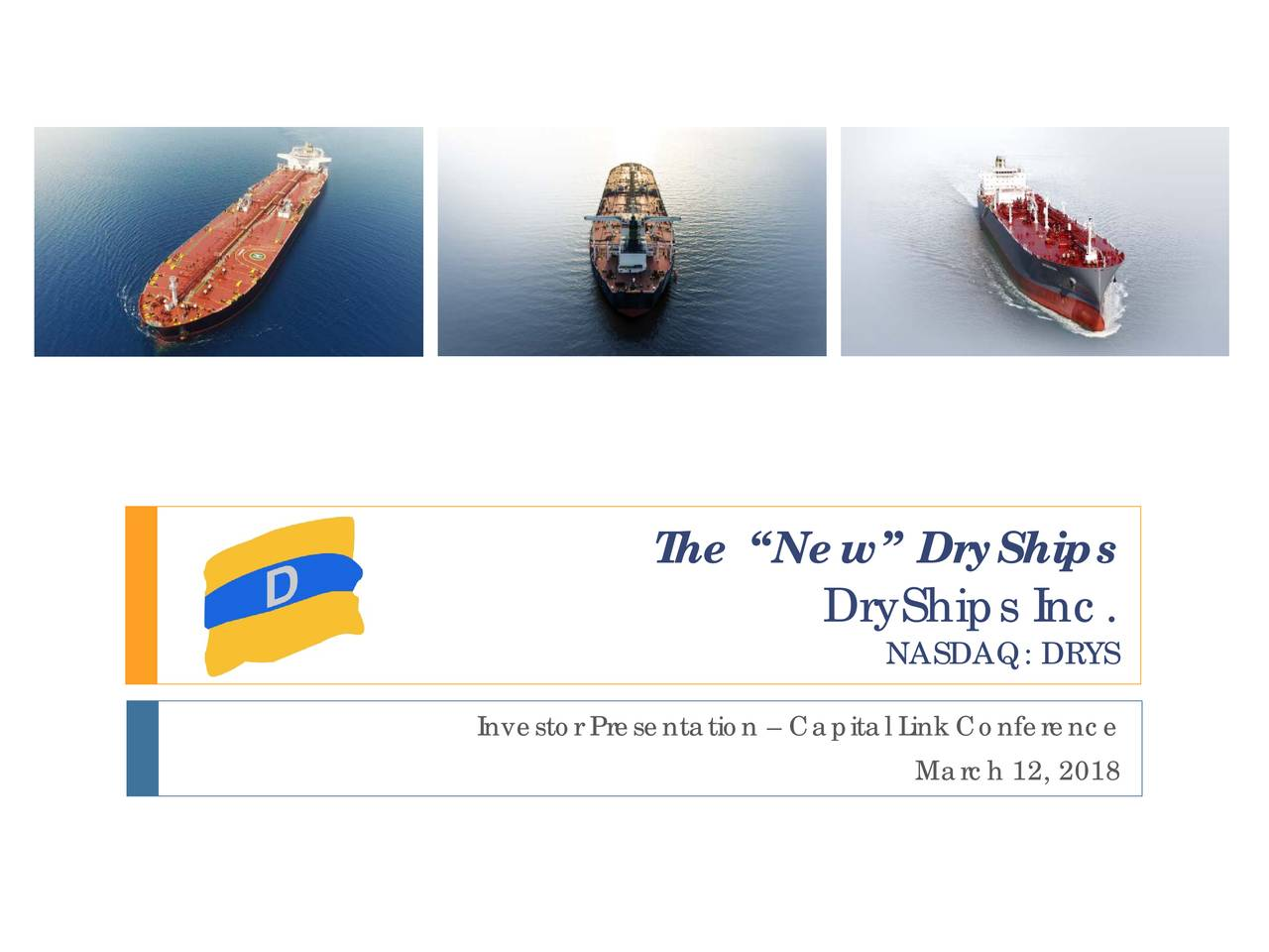 DryShips (DRYS) Presents At Capital Link's 12th Annual