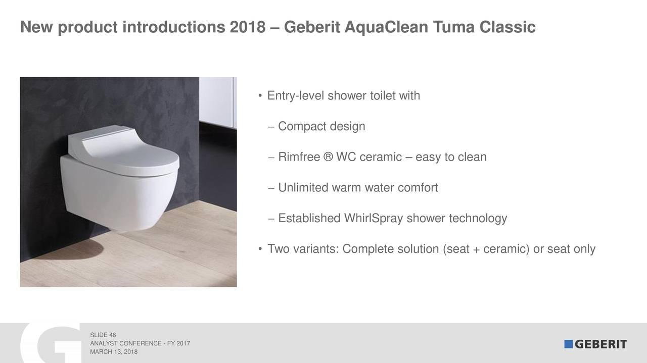 Sphinx Rimfree Toilet : Geberit ag adr 2017 q4 results earnings call slides geberit ag