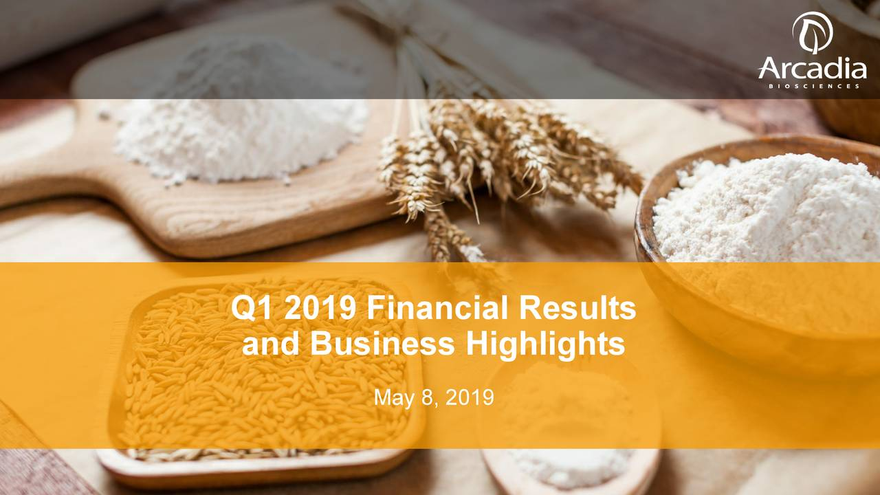 and Business Highlights May 8, 2019