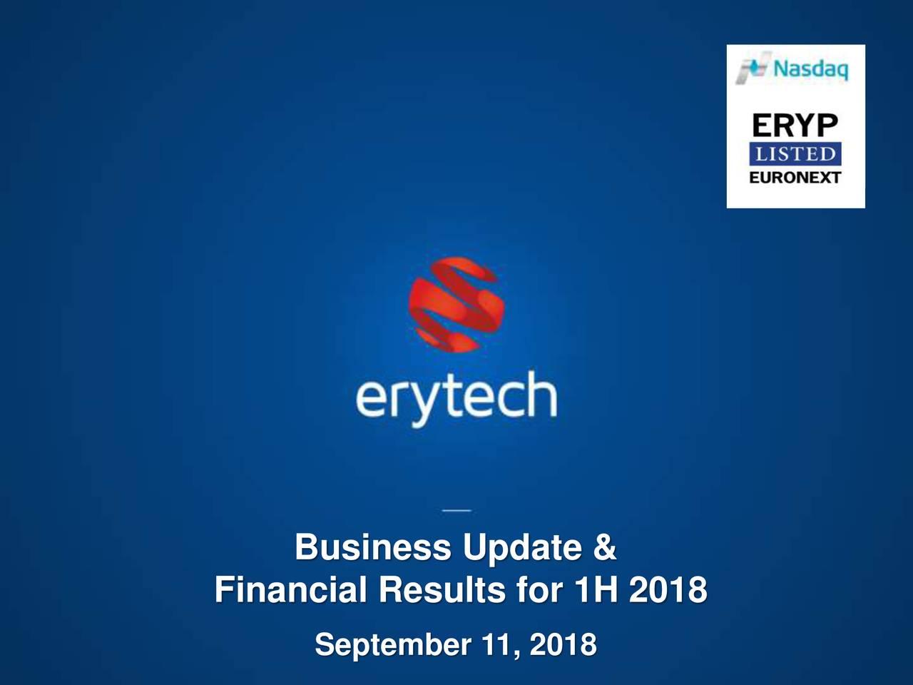 Erytech pharma sa ipo financial advisor