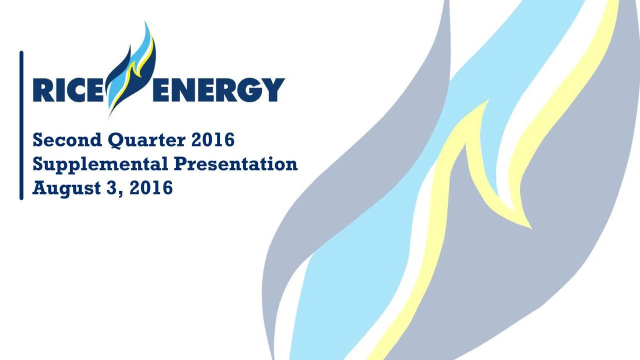 Supplemental Presentation August 3, 2016